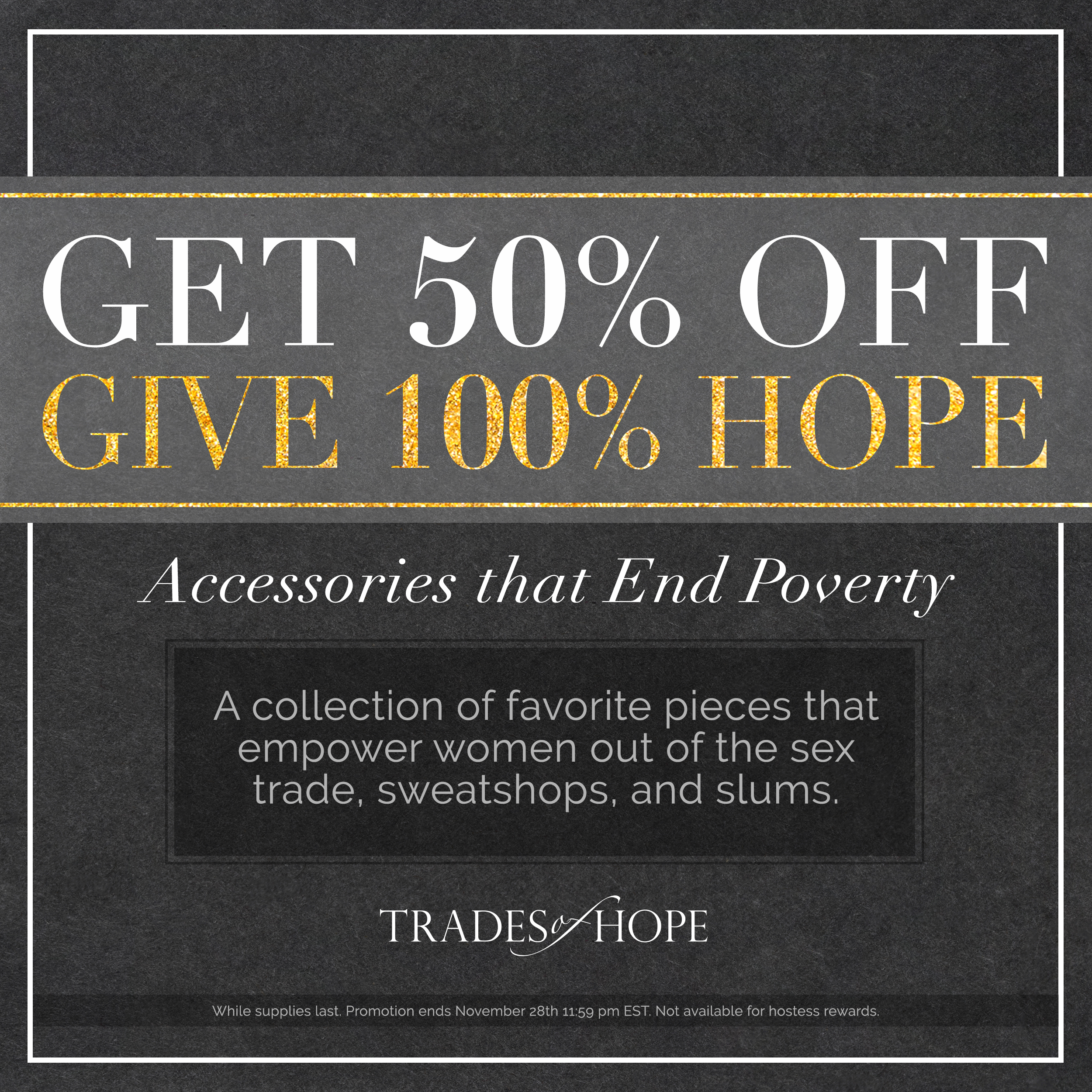 Trades of Hope Black Friday Sales!