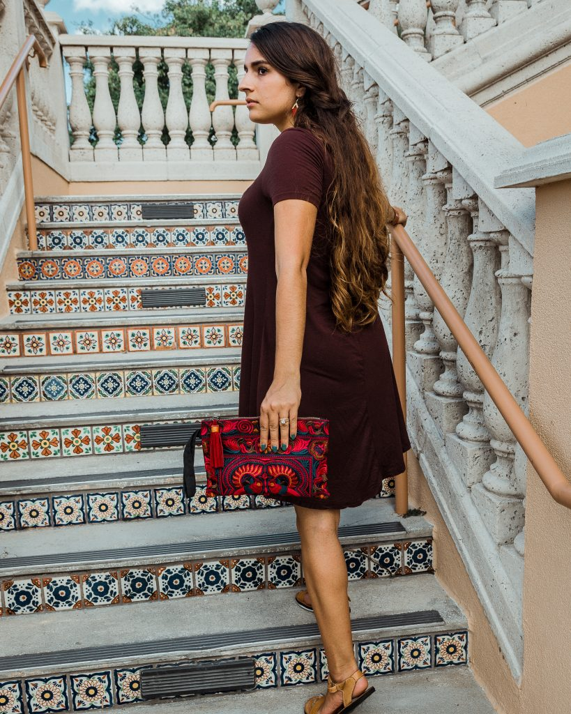 Sari Tassel Necklace India / Leather Haiti Cuff / Fair Trade / Thailand Embroidered Clutch / Ethical / Women's Fashion / Outfit Ideas / Bohemian / Eclectic / Global Style / Click to shop and join our mailing list to learn more, get coupons and promos, and get the first look at new product releases: https://pursuitofpalms.com/subscribe/ #fairtrade #ethicalfashion #sustainable #ecofriendly #empoweringwomen #endpoverty #directsales #handmade #handcrafted