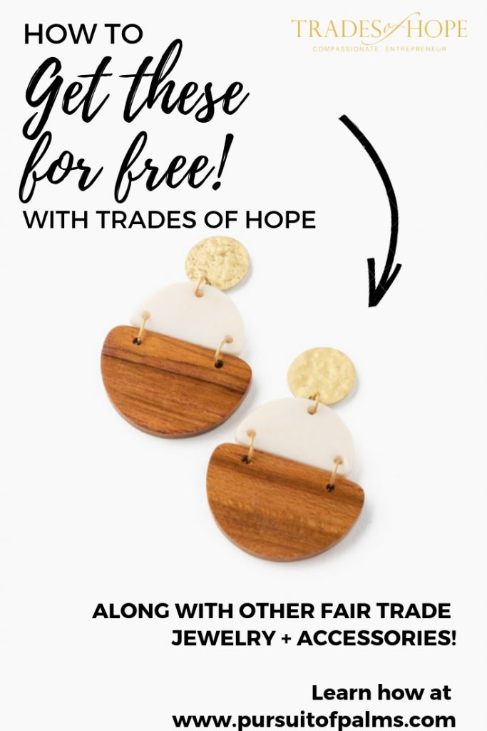 Find out how YOU can provide five life skills classes to Pakistani women escaping hardship. You will also receive a pair of the exclusive Fair Trade Trinity Drop Earrings to celebrate! Click to read and email tawnyandluke@pursuitofpalms.com with any questions you may have about this incentive! #tradesofhope #directsales #fairtrade #ethical