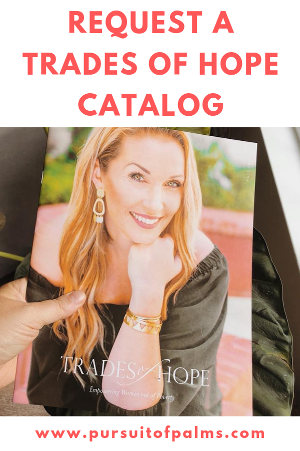 Want to thumb through the latest Trades of Hope Catalog? Request a Trades of Hope Catalog by clicking here and submitting your address! Each catalog will be sent with a special gift! Email tawnyandluke@pursuitofpalms.com #tradesofhope #tradesofhopecatalog #directsales #fairtrade #ethical