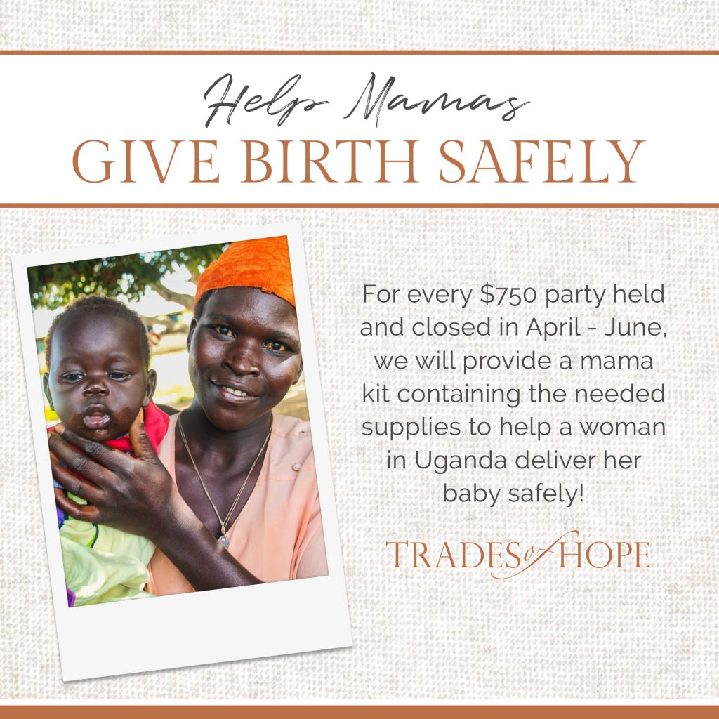 Find out how YOU can provide a mama kit to a woman in Uganda so she can safely give birth! You will also receive a pair of the exclusive Fair Trade Together Bracelets to celebrate! Click to read and email tawnyandluke@pursuitofpalms.com with any questions you may have about this incentive! #tradesofhope #directsales #fairtrade #ethical