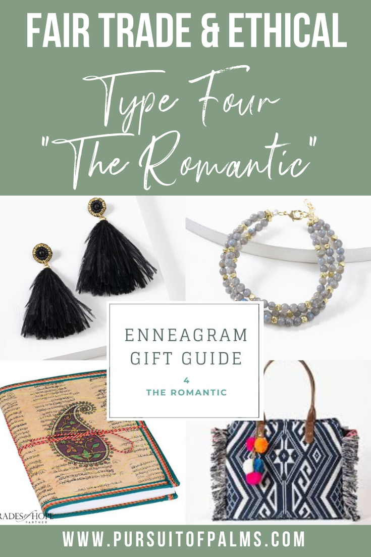 Enneagram Type 4 Fair Trade Gift Guide | Read all about the Type 2 Gift ideas! Click for details on how to purchase these gorgeous Fair Trade & Ethical Gifts for yourself! #fairtrade #ethical #giftguide #tradesofhope #directsales #enneagram