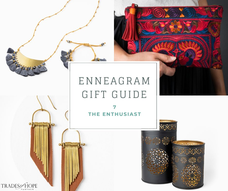 Enneagram Type 7 Fair Trade Gift Guide | Read all about the Type 7 Gift ideas! Click for details on how to purchase these gorgeous Fair Trade & Ethical Gifts for yourself! #fairtrade #ethical #giftguide #tradesofhope #directsales #enneagram